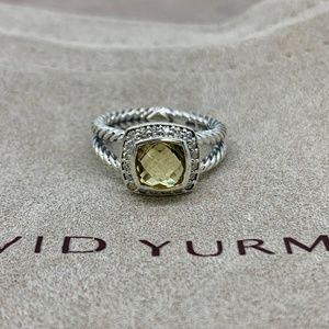 David Yurman Petite Albion Ring 🍋 Citrine Diamond